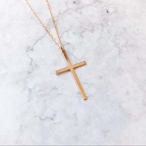 Jewelry - 14k Gold Filled Skinny Cross Dainty Necklace